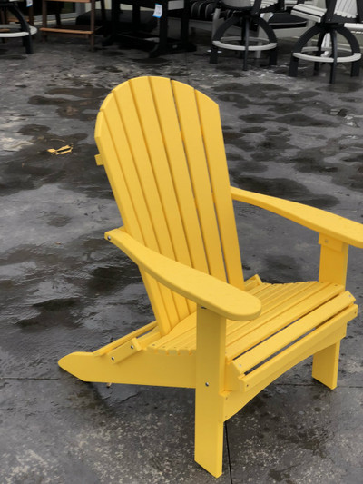 Folding Adirondack Chair Sunburst Yellow