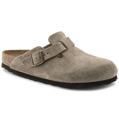 Boston Suede Taupe Narrow