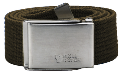 Canvas Belt Dark Olive 1 Size