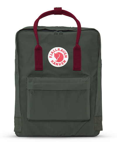 Kanken Forest Green-Ox Red