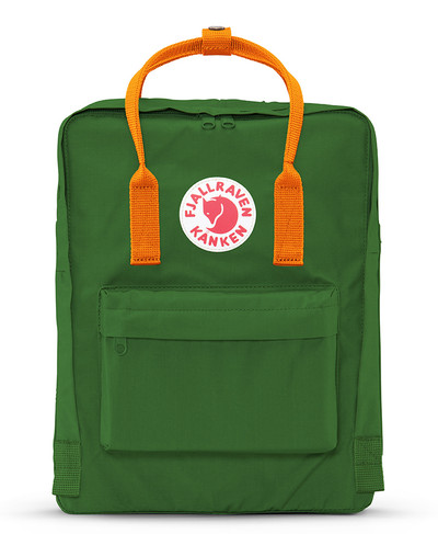 Kanken Leaf Green-Burnt Orange