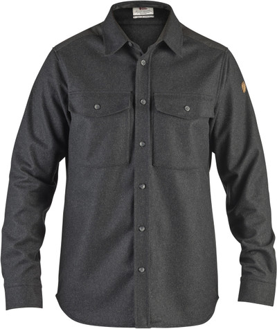 Ovik Re-Wool Shirt LS Dark Grey
