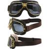 Gold frame Brown leather Smoke lenses