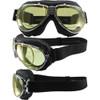 TT 4V Chrome Frame Black Leather Yellow Lenses & RX Adaptor