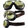 TT 4V Chrome Frame Brown Leather Yellow Lenses & RX Adaptor