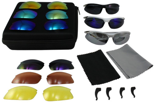 Shooterz Glasses Kit with 3 Frames and 9 Interchangeable Lenses
