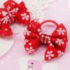 Flower bow hair elastics