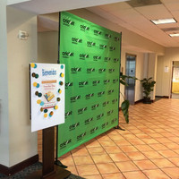 8' x 8' Fabric Step and Repeat Banner (Wrinkle Free)