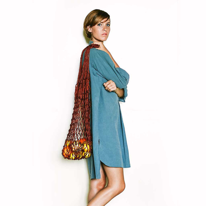 Oversized Fique Burgundy Net Bag
