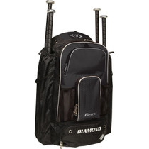 The Diamond Back Pack features 4 bat sleeves, padded contoured shoulder straps and a bottom zipper cleat compartment. Allows for easy storage and transportation of all of your baseball or softball gear.