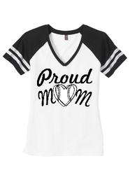 Proud Mom Game Day V-Neck