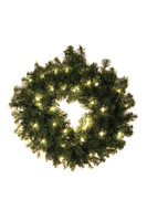 "30"" Norway Prelit Wreath"
