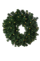 "30"" Norway Battery Operated Wreath"