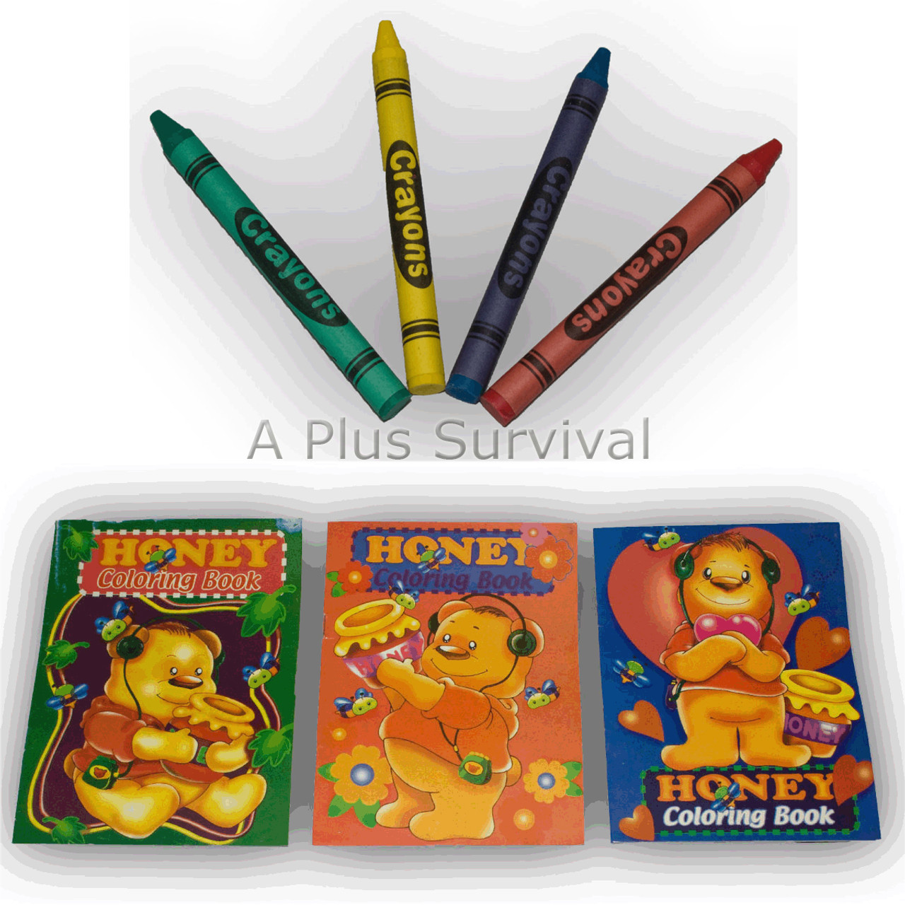 Activity Coloring Book and Crayons Combo - A Plus Survival