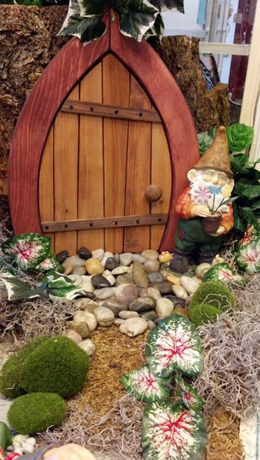 Wooden Fairy / Gnome Door - Closed (Medium) & Wooden Fairy / Gnome Door - Closed (Small) - Colorful Impressions