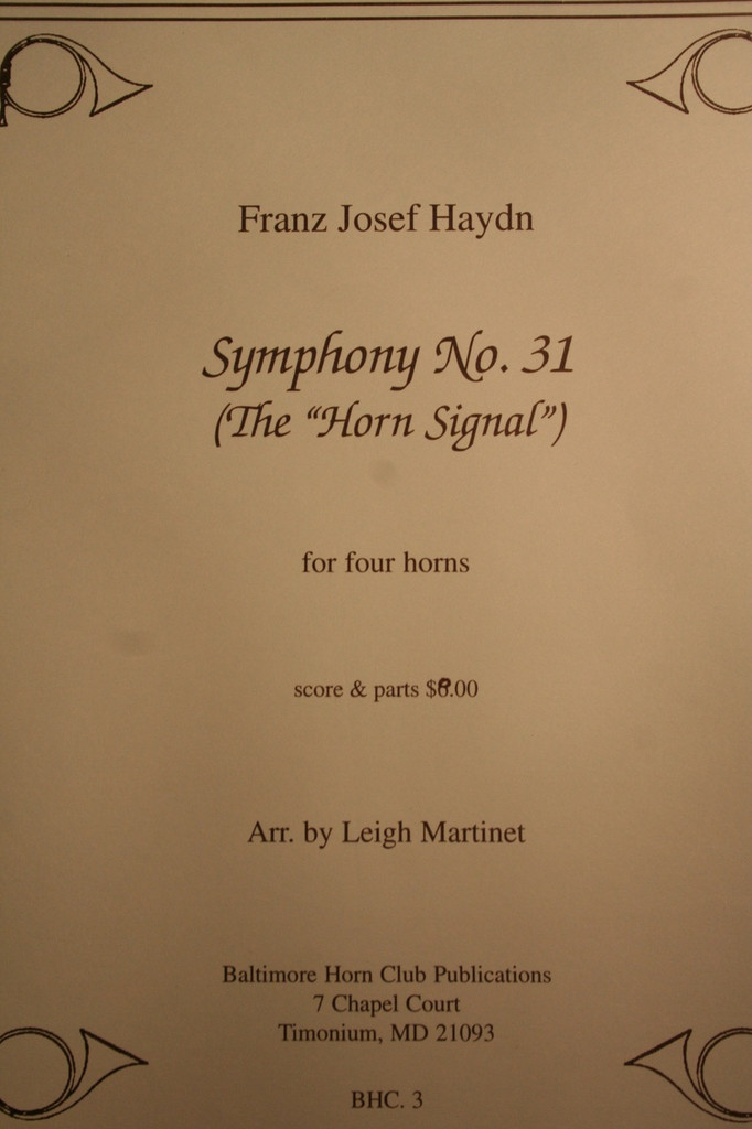 "Haydn - Symphony No. 31 (The ""Horn Signal"")"