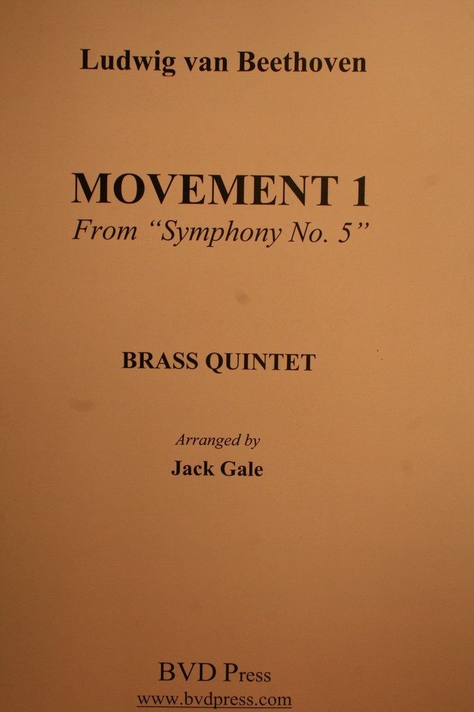 """Beethoven, Ludwig - Movement 1, From """"Symphony No. 5"""""""