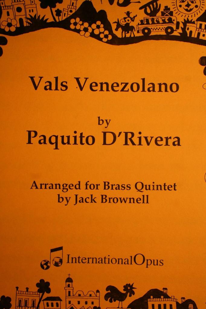 D'Rivera, Paquito - Vals Venezolano
