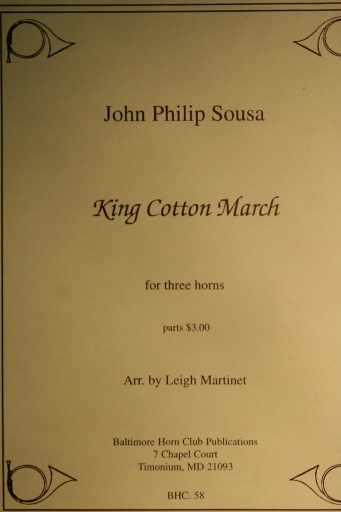 Sousa, John Philip - King Cotton March