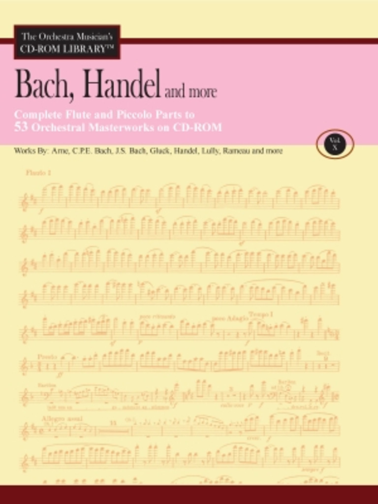 CD-Rom, Vol. 10 - Bach/Handel