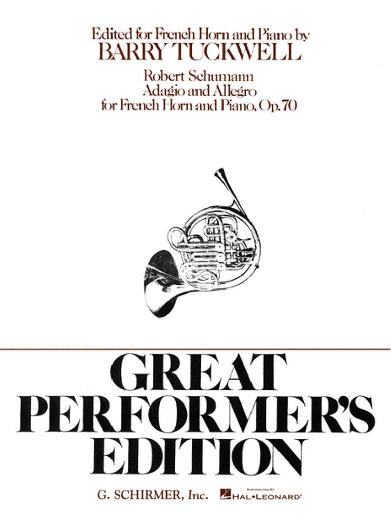 Schumann, Robert – Adagio and Allegro, Opus 70 (Tuckwell Edition) (image 1)