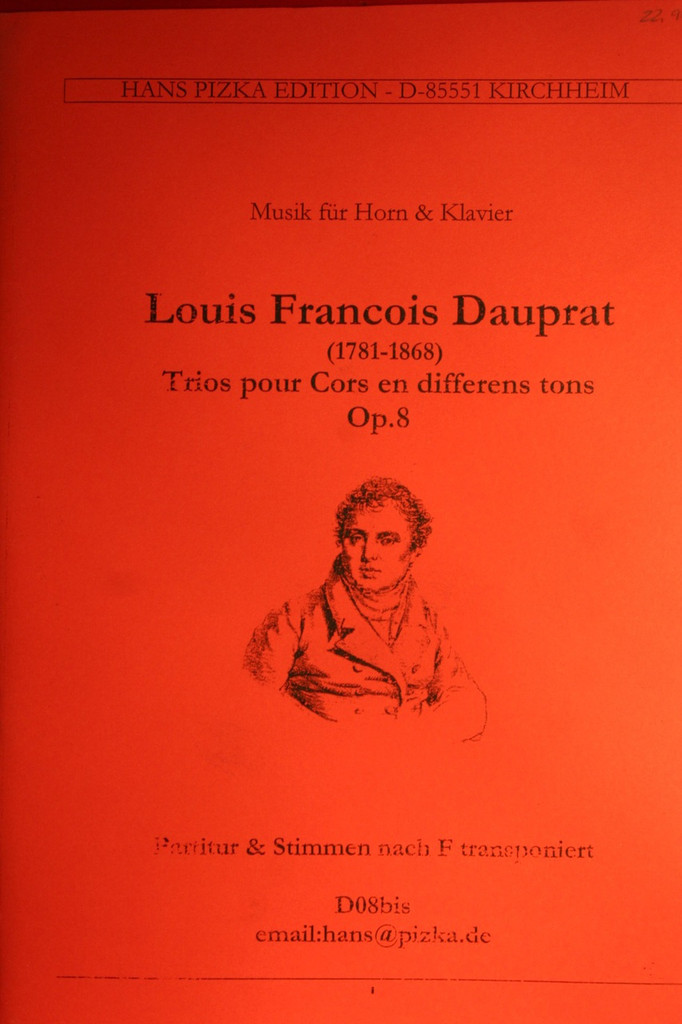 Dauprat, Louis Francois - Trios for Horns in Different Keys, Op 8
