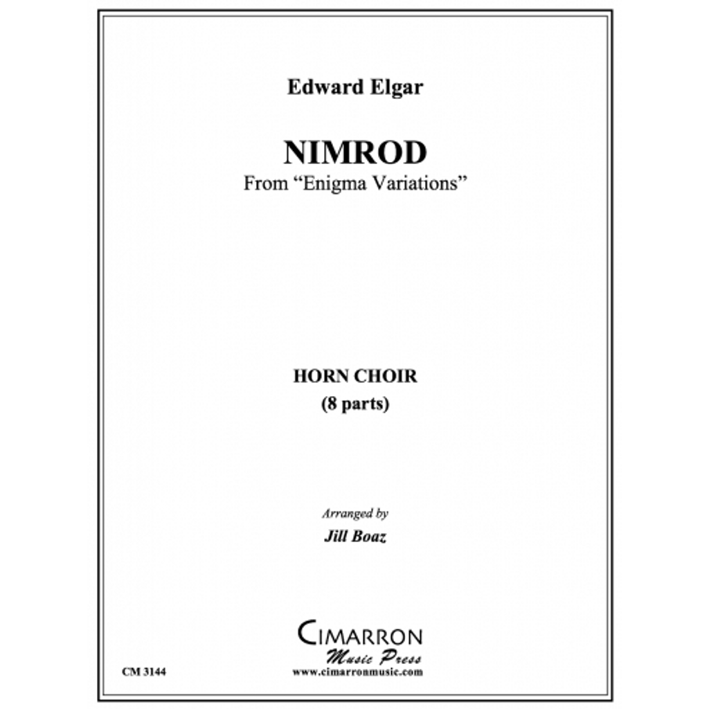 "Nimrod from ""Enigma Variations""   Composer: Elgar, Edward Arranger: Boaz, Cathy Jill"