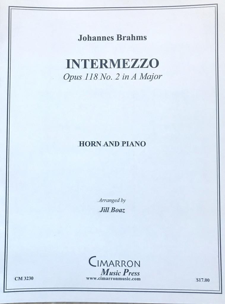 Brahms, J.S. - Intermezzo, Opus 118 No. 2 in A Major (image 1)