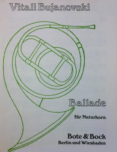Bujanovski, Vitali - Ballade for Natural Horn