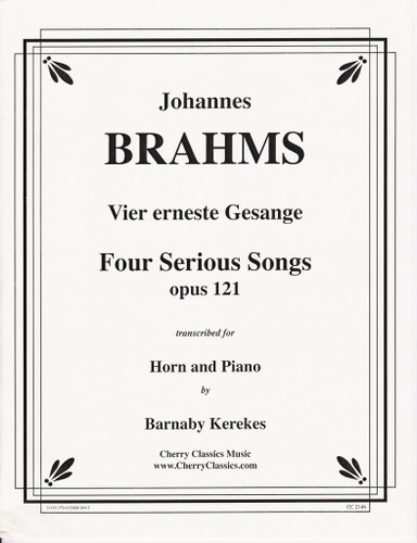 Brahms, J.S. - Four Serious Songs, Op. 121