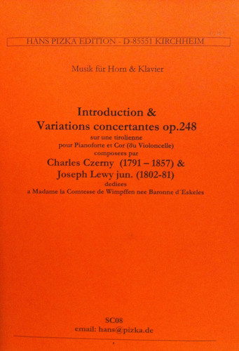 Czerny, Charles - Introduction & Variations On A Concerto, Op. 248