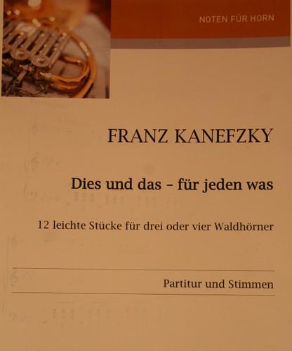 Kanefzky, Franz - Dies und Das, Fur Jeden Was
