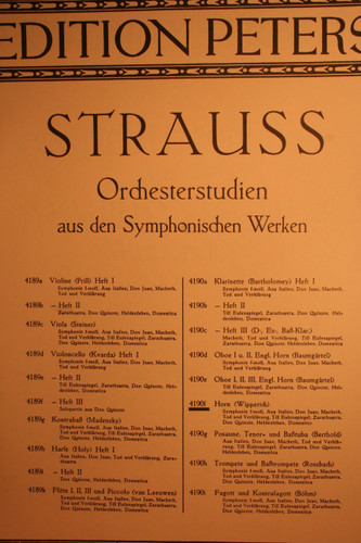 Strauss, Richard - Orchestral Studies For The Symphonic Works