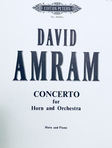 Amram, David - Concerto for Horn and Orchestra