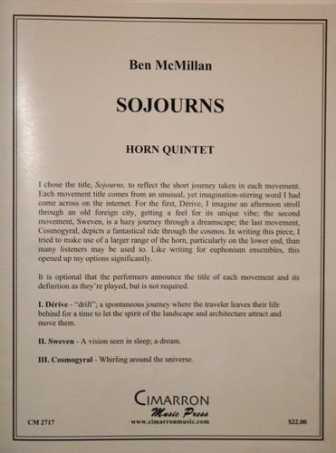 McMillan, Ben - Sojourns