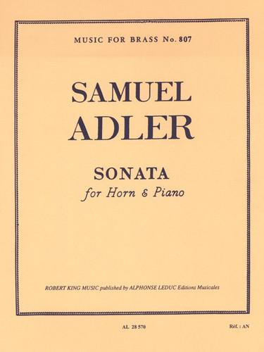Adler, Samuel - Sonata For Horn and Piano