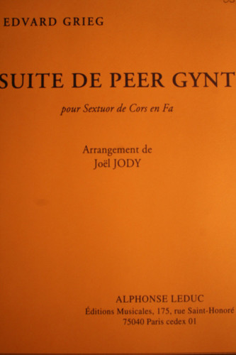 Grieg, Edvard - Suite De Peer Gynt