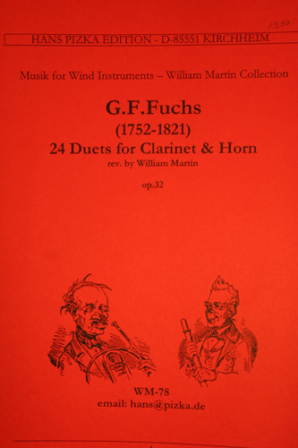 Fuchs, G.F. - 24 Duets for Clarinet & Horn, Op. 32