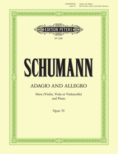 Schumann, Robert – Adagio and Allegro, Opus 70 (Edition Peters) (image 1)