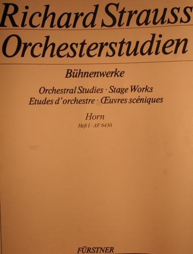 Strauss, Richard - Orchestral Studies, Vol. 1