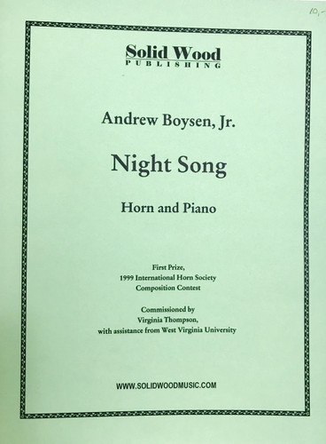 Boysen, Andrew, Jr. - Night Song