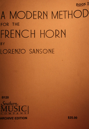 Sansone, Lorenzo - A Modern Method For The French Horn, Book 2