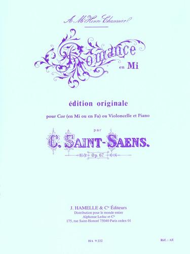 Saint-Saens, Camille - Romance, Opus 67 (image 1)
