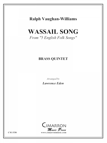"Vaughan-Williams, Ralph - Wassail Song From ""5 English Folk Songs"" (image 1)"
