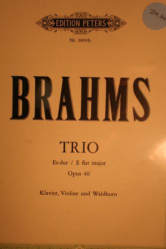 Brahms, Johannes - Trio in Eb, Op. 40