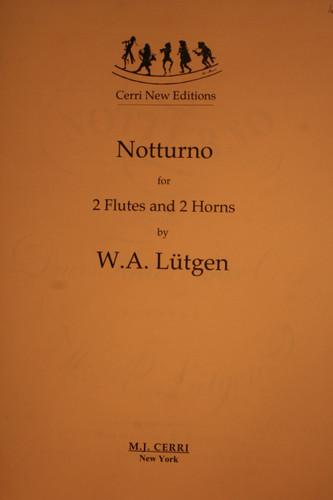 LÌ_tgen, W.A. - Notturno For 2 Flutes & 2 Horns