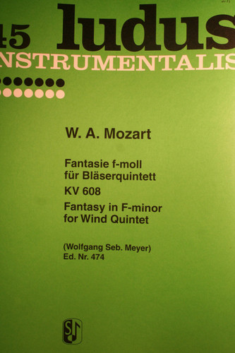 Mozart, W.A. - Fantasie in F Minor (KV.608)