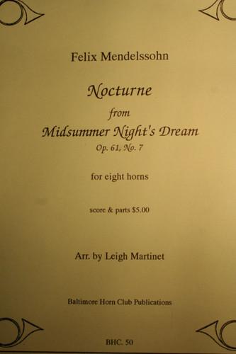 "Mendelssohn, Felix - Nocturne (from ""Midsummer Night's Dream"", Op. 61, No. 7)"
