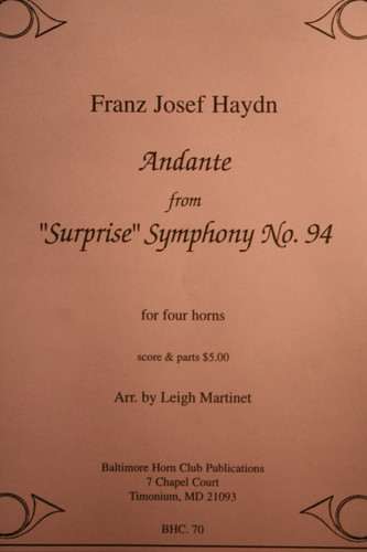 "Haydn - Andante From The ""Surprise"" Symphony, No. 94"