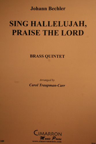 Bechler, Johann - Sing Hallelujah, Praise the Lord